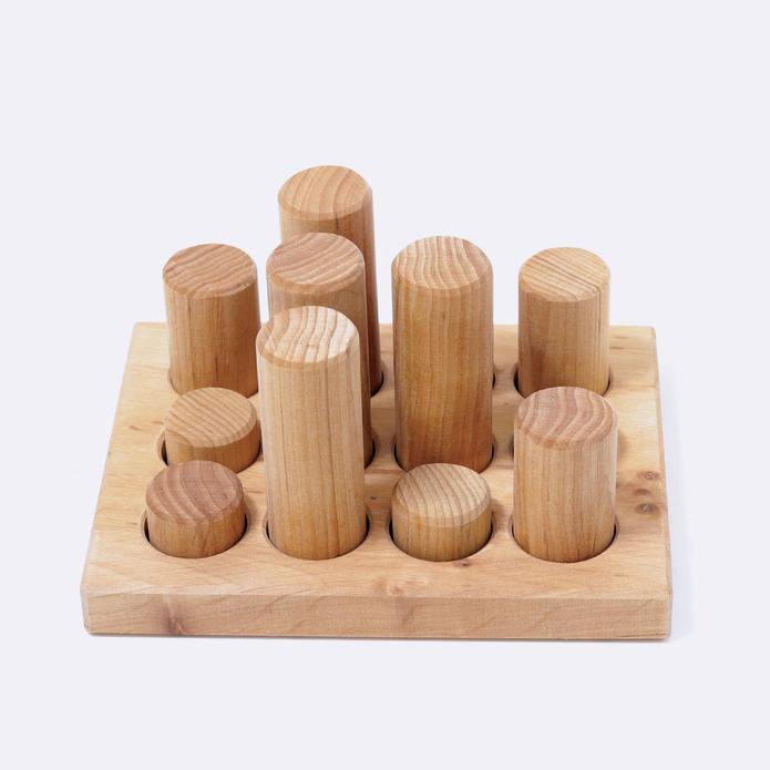 Grimm's Stacking Game Small Natural Rollers - 2020 Collection