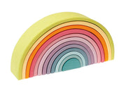 Grimm's Pastel Rainbow Tunnel 12 Pieces