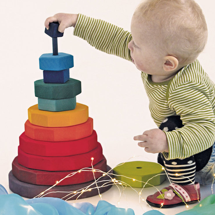 Grimm's Rainbow Geometrical Stacking Tower