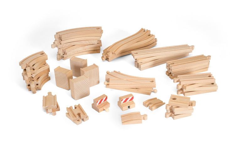 BRIO 50 Piece Track Pack - All Pieces _ Little Toy Tribe