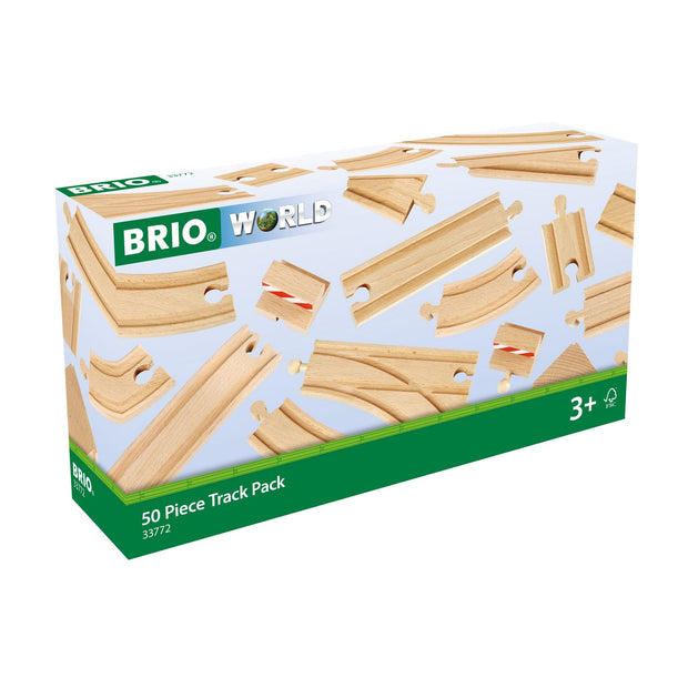 BRIO 50 Piece Track Pack - Cover _ Little Toy Tribe