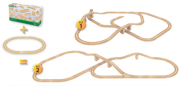 BRIO 50 Piece Track Pack - Set Up _ Little Toy Tribe