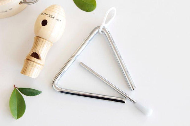 Baby Noise _ Mini Triangle with Bird Whistle _ Little Toy Tribe