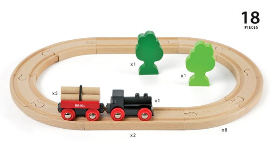 Brio Little Forrest Train Set - Pieces _ Little Toy Tribe