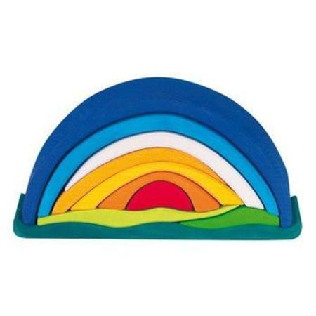 Gluckskafer Wooden Blocks - Sunrise Rainbow Arch