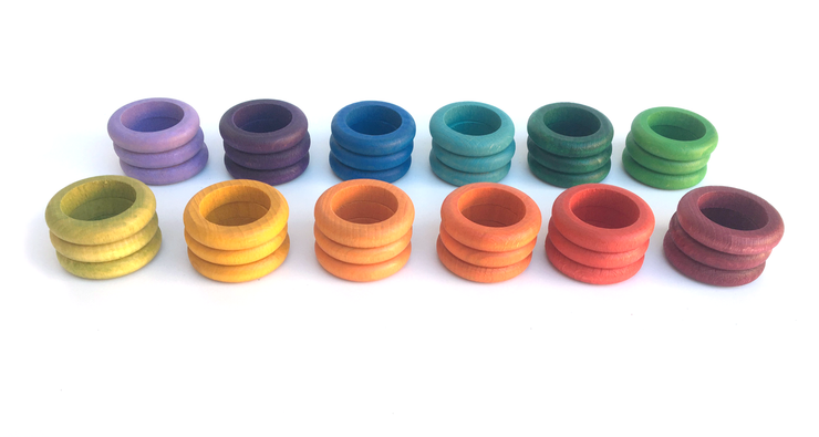 Grapat 36 Rings in 12 Colours Little Toy Tribe