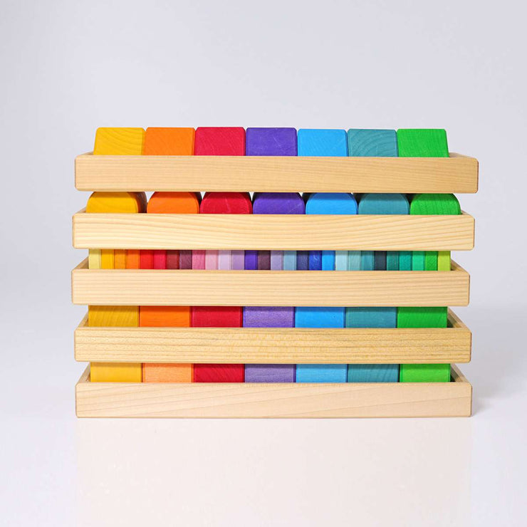 Grimm's Forms and Colours Trays Stacked Little Toy Tribe