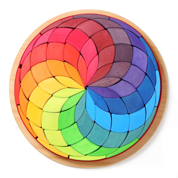 Grimm's Large Mandala Colour Circle Spiral Little Toy Tribe