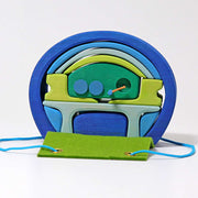 Grimm's Mobile Home Green and Blue Little Toy Tribe