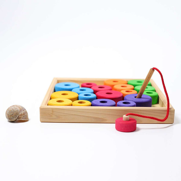 Grimm's Threading Game with Wooden Tray Little Toy Tribe