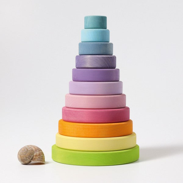 Grimm's Conical Stacking Tower Pastel Little Toy Tribe