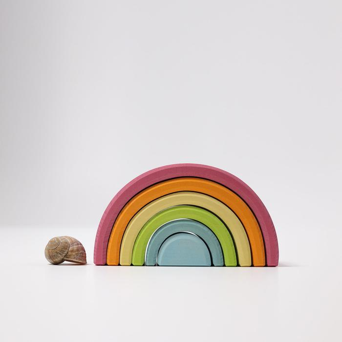 Grimm's Medium Pastel Rainbow 6 Pieces Little Toy Tribe