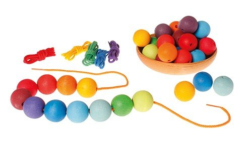 Grimm's Rainbow Strings for Threading With Beads Little Toy Tribe