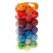 Grimm's Wooden Beads 36 x 30mm Rainbow Little Toy Tribe