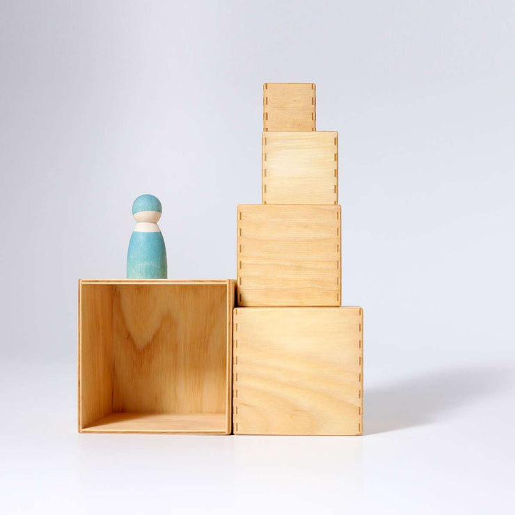 Grimm's Natural Stacking Boxes Stacked Little Toy Tribe