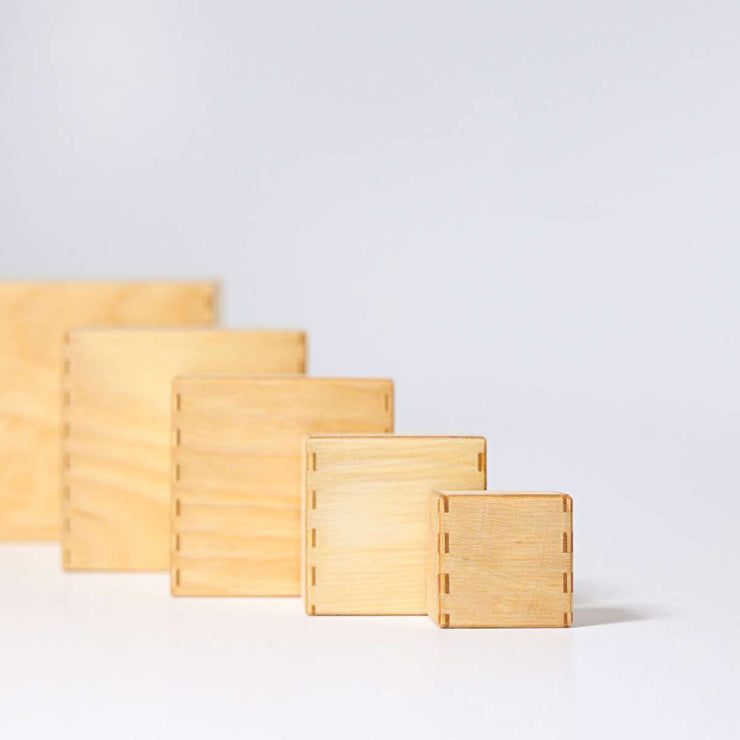 Grimm's Natural Stacking Boxes Side Little Toy Tribe