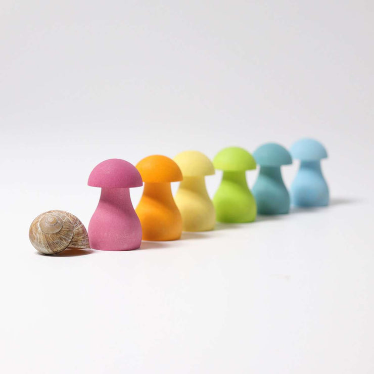 Grimms Pastel Mushrooms Little Toy Tribe