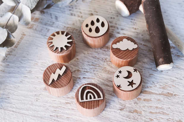Weather Playdough Stamps