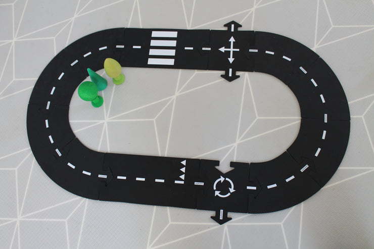 waytoplay roads 12 piece ring road little toy tribe