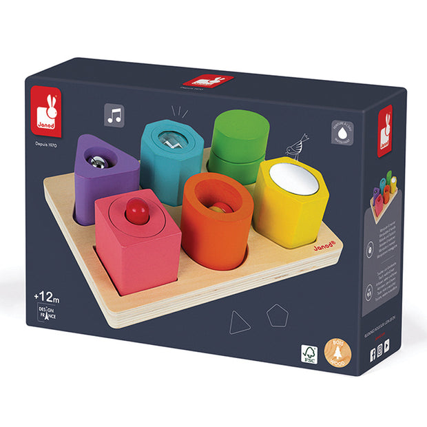 Shapes and Sounds 6 Block Puzzle