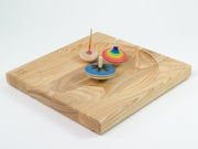 Mader _ wooden ash plate for spinning tops _ Little Toy Tribe