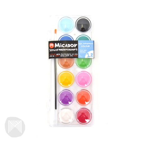 Micador Watercolour 12 Disk - Little Toy Tribe