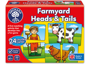 Orchard Games - Farmyard Heads and Tails - Little TOy Tribe