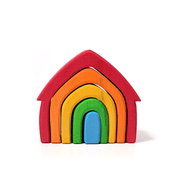 Grimm's Rainbow Stacking Houses Little Toya Tribe