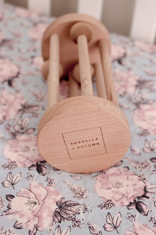 Wooden Rolling Rattle