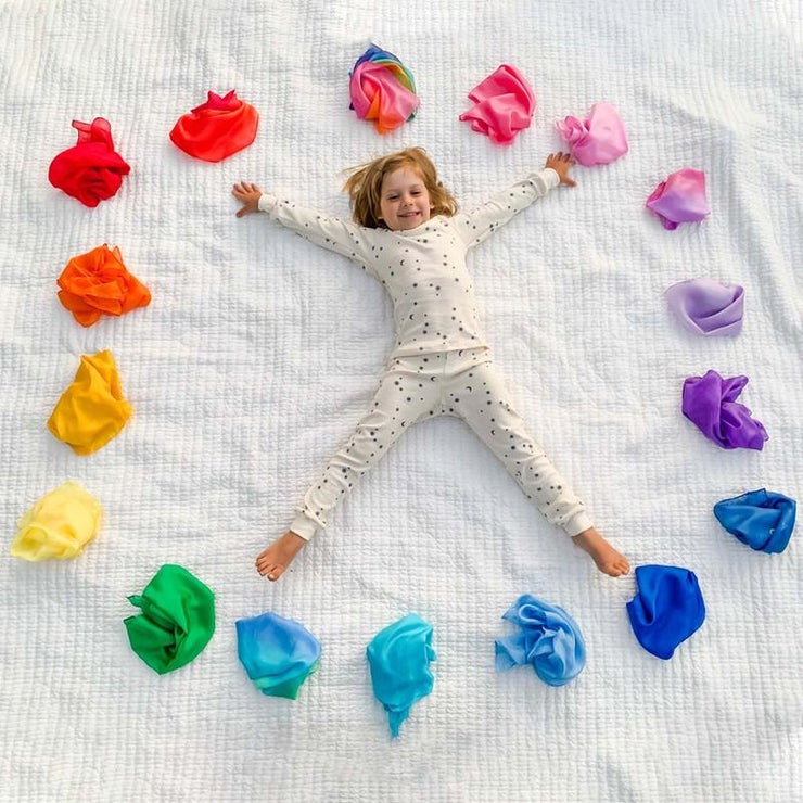 Sarah's Silks _ Mini Playsilks All Colours _ Little Toy Tribe