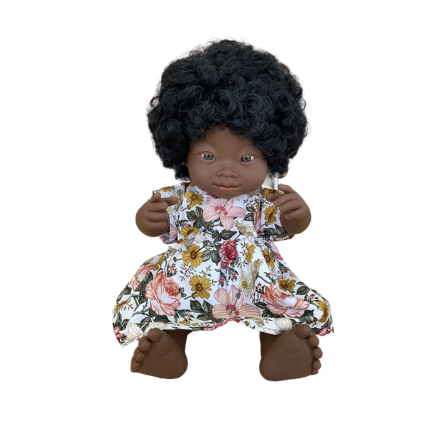 Miniland Doll Clothing - Floral T-shirt Dress