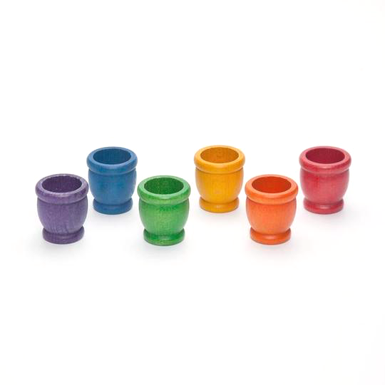 Grapat Coloured Mates 6 Pieces, Little Toy Tribe