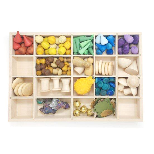 grapat tinker tray with loose parts little toy tribe