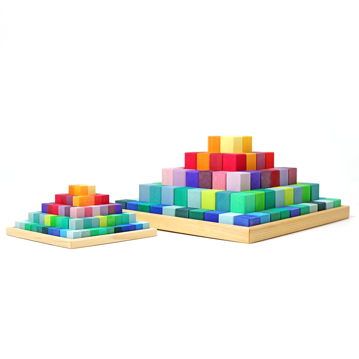Grimm's Small Stepped Pyramid Little Toy Tribe