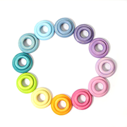 Grimm's Building Rings Pastel in Circle Little Toy Tribe