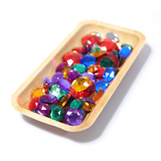 Grimm's 100 small acrylic glitter stones little toy tribe