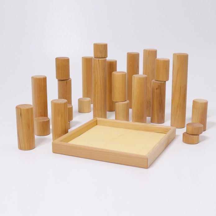 Grimm's Large Building Rollers Natural - 2020 Collection
