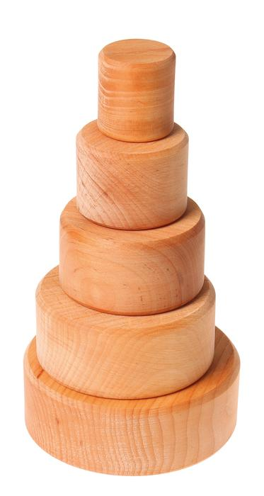 Grimm's Natural Stacking Bowls Little Toy Tribe