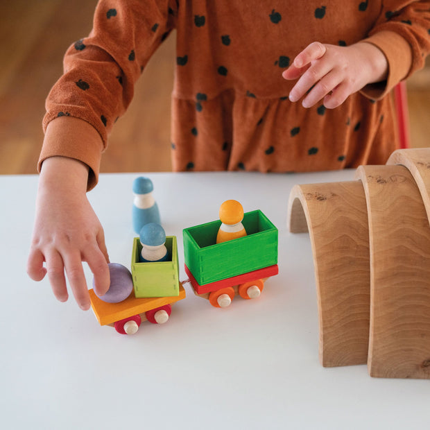 Grimm's Wooden Train Building Set - 2020 Collection