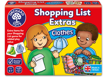 Orchard Game - Shopping List Extras Clothes