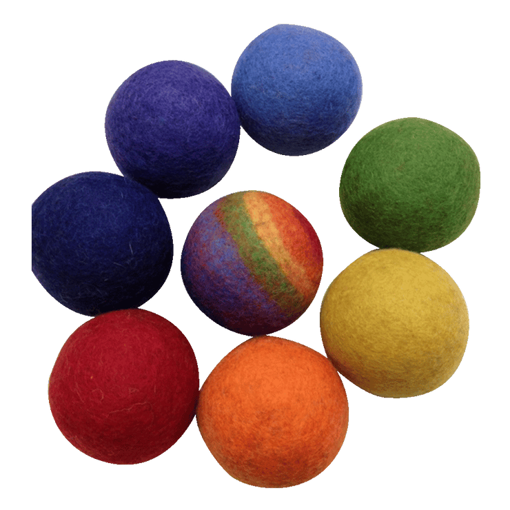 Papoose Felt Balls 7cm - Set of 8