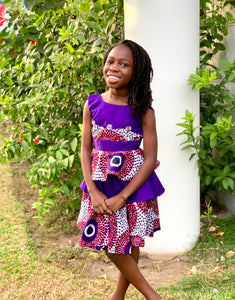 Elorm Purple and Pink Dress