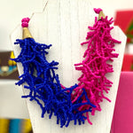 Nuna Pink & Blue Beaded Necklace
