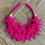 Nuna Pink Beaded Necklace