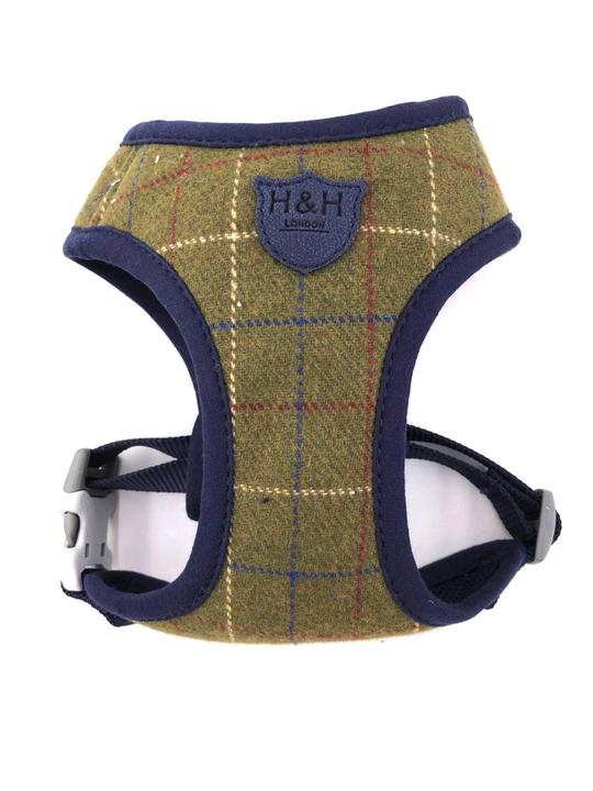 Hugo & Hudson Harness Dark Green Checked Tweed