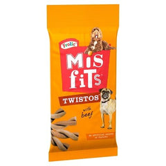 Misfits Twistos Beef Dog Treats 105g