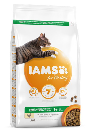 Iams for Vitality Adult Cat Food with Chicken