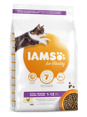 Iams for Vitality Kitten Food with Chicken