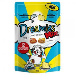 Dreamies Salmon & Cheese Mix 60g
