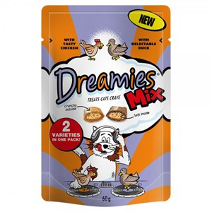 Dreamies Chicken & Duck Mix 60g